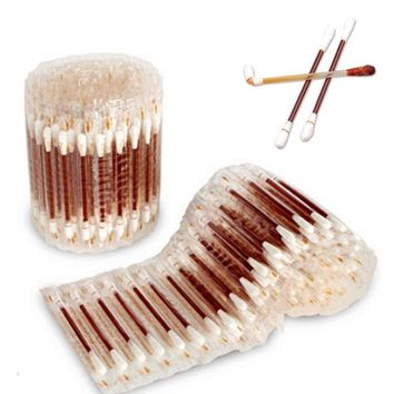 30Pcs/pack Double Head Cotton Swab Makeup Cotton Buds Tip For Medical iodine cotton Sticks Nose Ears Cleaning Tools A2