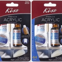 **2-PACK** Kiss Nails French Acrylic Sculpture Kit