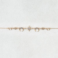 AEO Moon & Star Chain Choker, Gold
