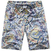 QPNGRP Men's Swim Trunks Multicolored Board Shorts With Mesh Lining