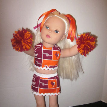 American Girl 18 Inch Doll Virginia Tech Cheer Outfit By Sweetpeas Bows & More
