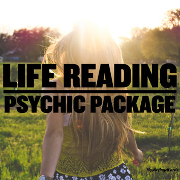Life Reading Psychic Package, Life Reading, Past, Present Future Reading, Tarot Reading, Life Puropse Reading, accurate and in-depth
