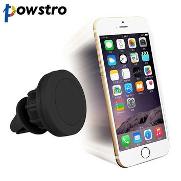 OB85 Powstro 360 Degree Car Holder Magnetic Air Vent Mount Smartphone Dock Mobile Phone Holder PC / Cell Phone Holder Stands