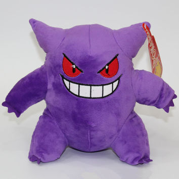 "9"" 22 CM Gengar Plush Toys Anime New Rare Soft Stuffed Animal Doll For Kids Gift"