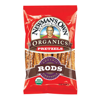 Newman's Own Organics Salted Pretzel Rods - Case of 12 - 8 oz.