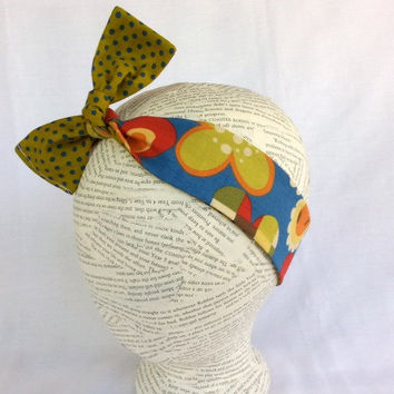 Reversible Fabric Head Wrap - Size Infant to Adult - Knot Headband - Tie Headband - Soft Fall Colors - Many Ways to Wear - Women's - Girls -