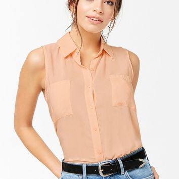 Sleeveless Pocket Shirt