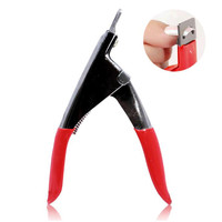 Red manicure stainless steel nail clipper Acrylic UV Gel False Nail Clipper Council cutter tools NA23