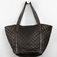 Quilted Metallic Leather Bag
