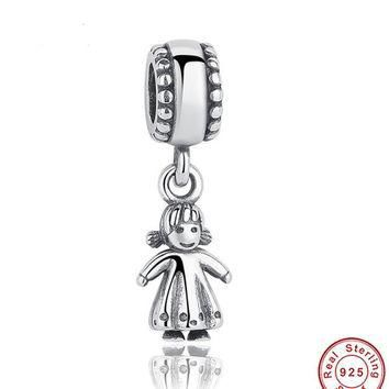 Winter Collection 925 Sterling Silver Silver My Little Girl Pendant Charm Fit Bracelet