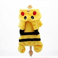 PAWZ Road Cartoon Bikachu Design Pet Costume Dog Clothes (L(Chest 16.5'' Body Length 13.8''))
