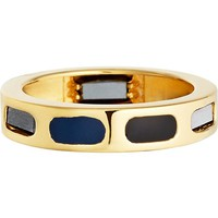 ASTLEY CLARKE - Prismic Slice 18ct yellow gold and hematite ring | Selfridges.com