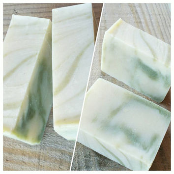 SCHMINT-- by RAH Soap.    Real All- Natural Handmade.   With Peppermint & Rosemary essential oils, Shea Butter, and a mild Clay Exfoliant.