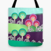 Walking With Elephants Tote Bag by Susana Paz | Society6