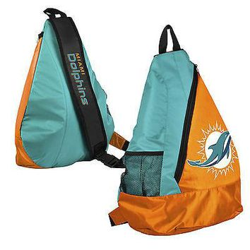 Miami Dolphins BackPack / Back Pack Book Bag NEW - TEAM COLORS - SLING