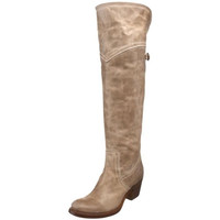 Frye Womens Jane Tall Cuff Leather Knee-High Riding Boots