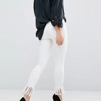 Blank NYC Crop Skinny Jean with Extreme Unravelling at asos.com