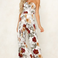 Fashion New Sexy Chest-wrapped, Shoulder-exposed Printed Couplet Pants