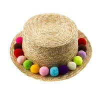 Multi Pompom Floppy Hat
