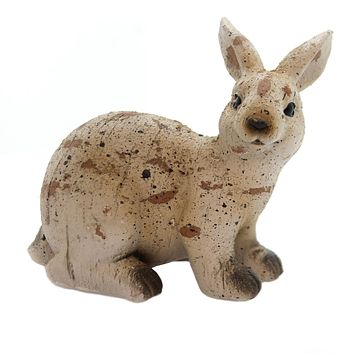 Home & Garden Antiqued Sitting Bunny Figurine