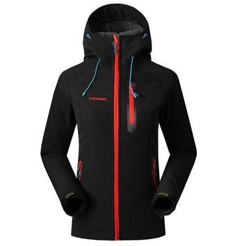 Softshell Jacket Women Brand Waterproof Rain Coat Outdoor Hiking Clothing Female Windproof Soft Shell Fleece Jackets