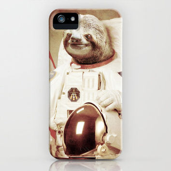 Sloth Astronaut iPhone Case by Bakus | Society6