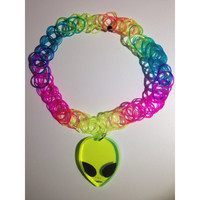 Alien Rainbow Tattoo Choker