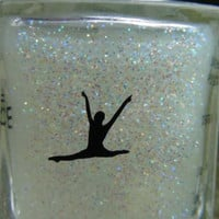 Gymnast split nail art decal set of 50