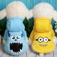 Pet Dog Clothes Coat Jacket Hoodies Minion Puppy Costume Cat Pajama Outfit for Small Big Dog Chihuahua Apparel Ropa para Perro 2