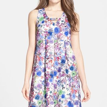 Women's Darling 'Florence' Print Jacquard Babydoll Dress