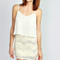 Sabrina Beaded Embellished Mini Skirt