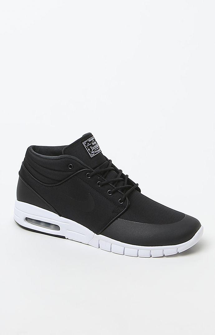 Nike SB Stefan Janoski Max Mid Shoes - Mens Shoes - Black 6f6773d55855