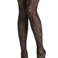 Web the Night Falls Tights | Mod Retro Vintage Tights | ModCloth.com