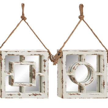 Too Cool Wood Wall Mirror 4 Assorted