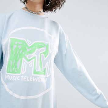 ASOS x MTV Sweatshirt In Logo Print at asos.com