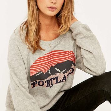 Truly Madly Deeply Portland Print Sweatshirt - Urban Outfitters