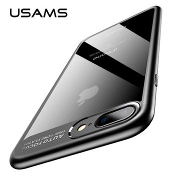 USAMS For iPhone 8 Case TPU PC Transparent Back Cover for iPhone 8 Plus Apple Phone Case iphone8