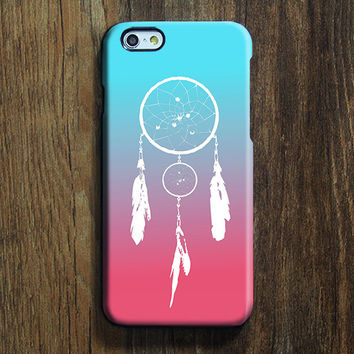 Dreamcatcher Blue Pink iPhone 6s Case iPhone 6s Plus Case iPhone 6 Cover iPhone 5S 5 iPhone 5C iPhone 4/4s Galaxy S6 Edge Galaxy s6 s5 Galaxy Note 5 Phone Case 154