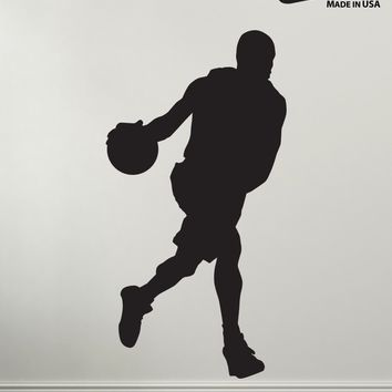 Vinyl Wall Decal Sticker Basketball Player Dribbling #340