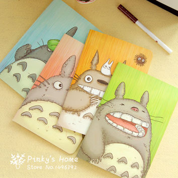 Creative Totoro Anime Cartoon Cute Simple Little Note Book A5 Notepad Students School Notebook Stationery Diary Book