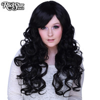 """Cosplay Wigs USA™  Curly 70cm/28"""" - Black -00304"""