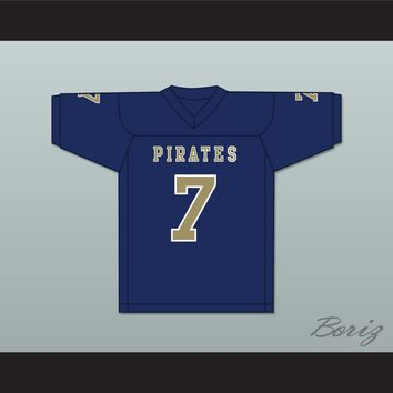 Brandon Bea 7 Independence Community College Pirates Dark Blue Football Jersey