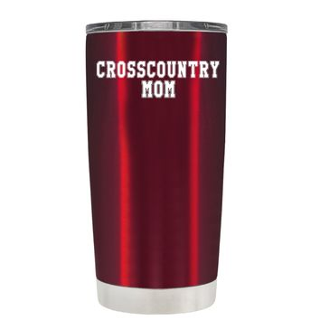 TREK Cross Country Mom on Translucent Red 20 oz Tumbler Cup