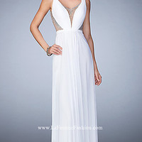 Open Back La Femme Prom Dress