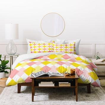 Hello Twiggs Yellow Party Duvet Cover
