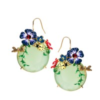 Les Nereides | Les Neredides Drop Earrings With Ladybird & Flower Detail at ASOS