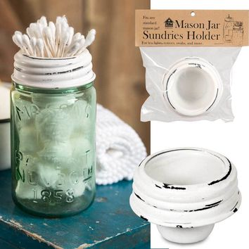 Mason Jar Tapered Cup Lid - White