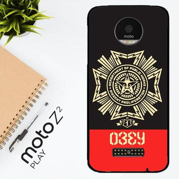 Obey Clothing O0726 Motorola Moto Z2 Play Case