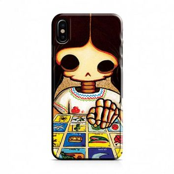 Day Of The Dead Skeleton Girl iPhone X Case