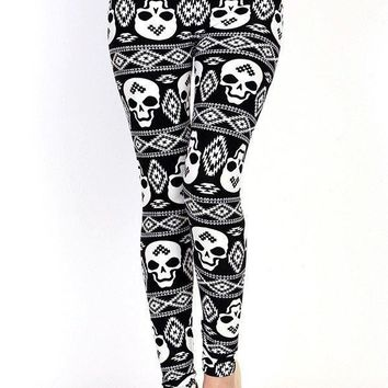 Savage Skull Printed Leggings